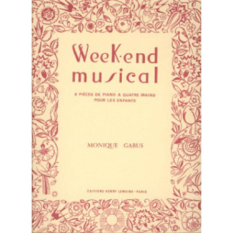 Titelbild für LEMOINE 24271 - WEEK END MUSICAL