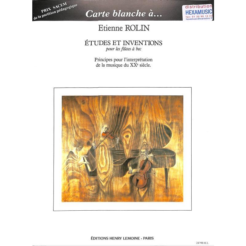 Titelbild für LEMOINE 24798 - ETUDES ET INVENTIONS