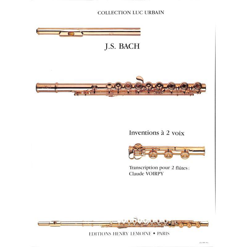 Titelbild für LEMOINE 25144 - ZWEISTIMMIGE INVENTIONEN BWV 772-786