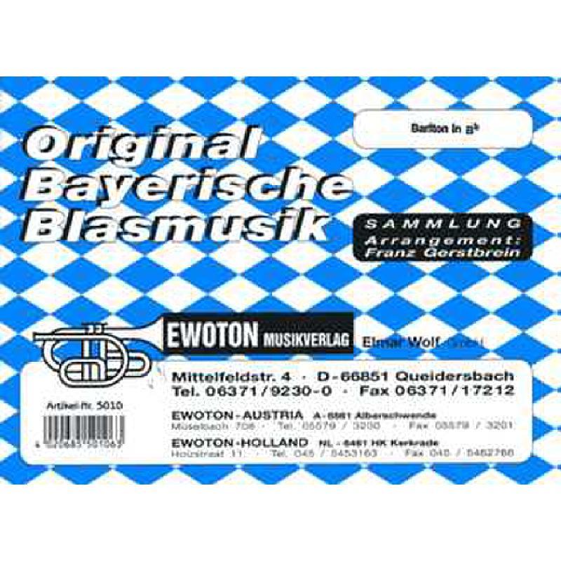 Titelbild für EWOTON 5010-BARB - ORIGINAL BAYERISCHE BLASMUSIK