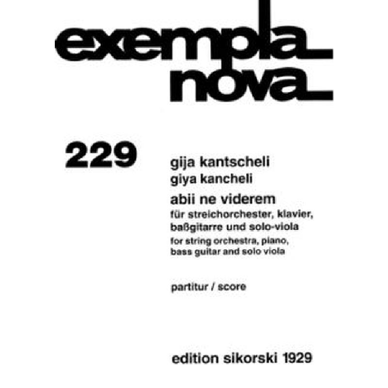 Titelbild für SIK 1929 - ABII NE VIDEREM