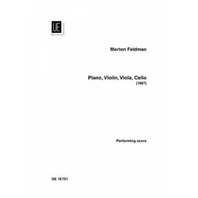 Titelbild für UE 18751 - PIANO VIOLIN VIOLA CELLO