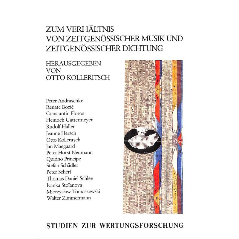 Titelbild für UE 26820 - ZUM VERHAELTNIS VON ZEITGENOESSISCHER MUSIK + ZEITGENOESSISCHER