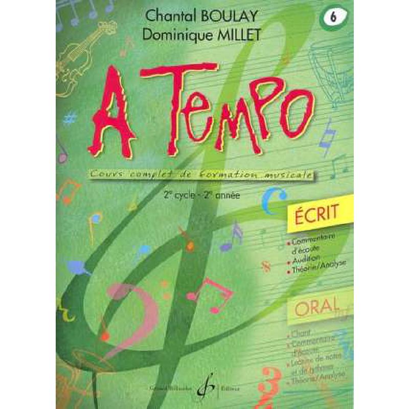 Titelbild für BILL 8367 - A TEMPO 6 - ECRIT
