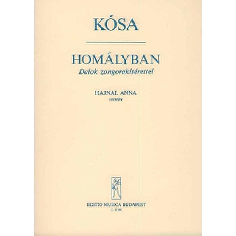 Titelbild für EMB 12507 - HOMALYBAN - LIEDER NACH GEDICHTEN VON HAJNAL
