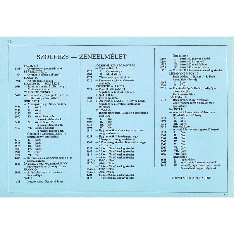 Notenbild für EMB 1099 - SOLFEGGIO 1