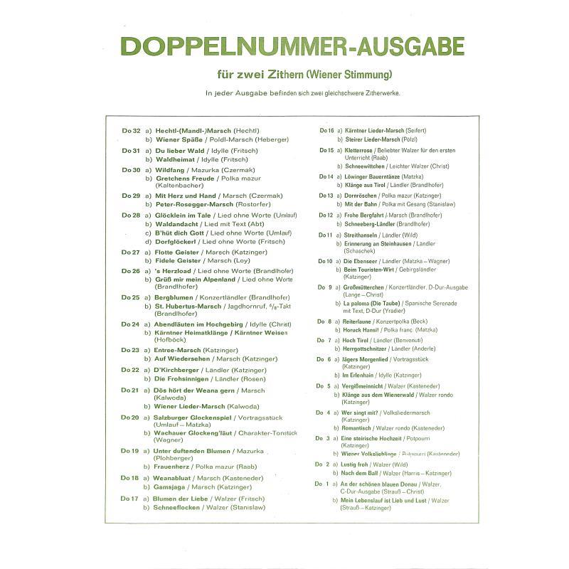Notenbild für WEINB 1999-10 - ABENDLAEUTEN IM HOCHGEBIRG + KAERNTNER HEIMATKLAENGE +