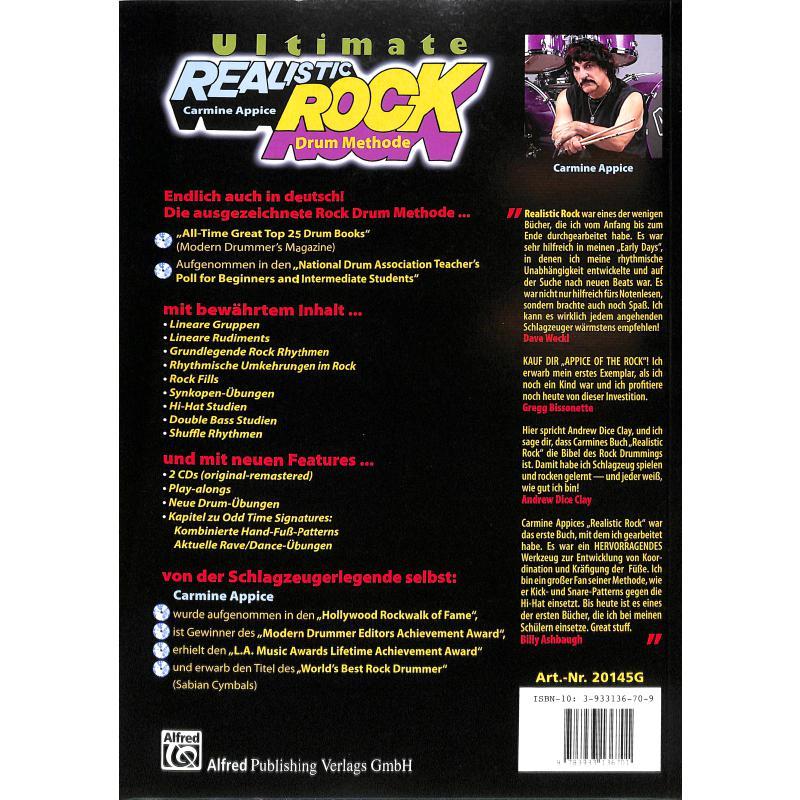 Notenbild für ALF 20145G - ULTIMATE REALISTIC ROCK DRUM METHODE