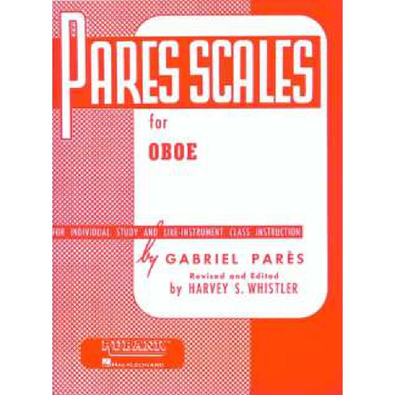 Titelbild für HL 4470510 - PARES SCALES FOR OBOE