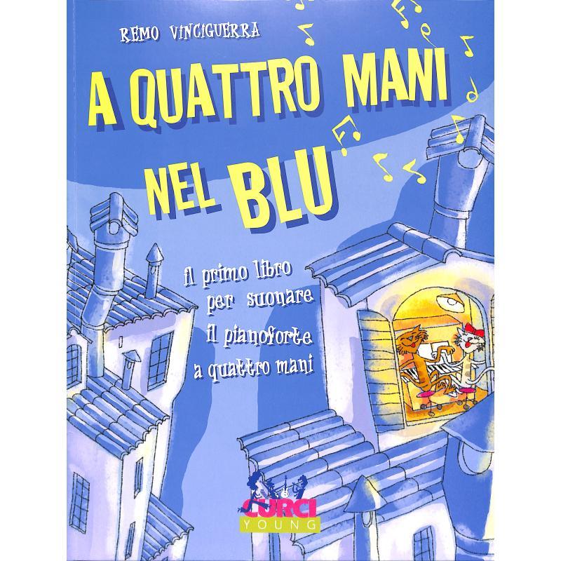 Titelbild für CURCI 11298 - A QUATTRO MANI NEL BLUE