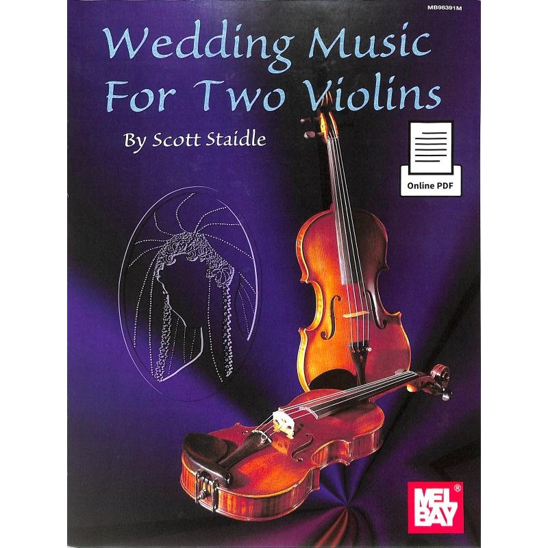 Titelbild für MB 98391M - Wedding music for 2 violins
