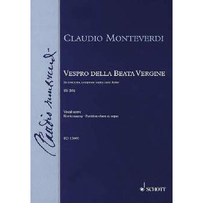Titelbild für ED 12602 - VESPRO DELLA BEATA VIRGINE - MA