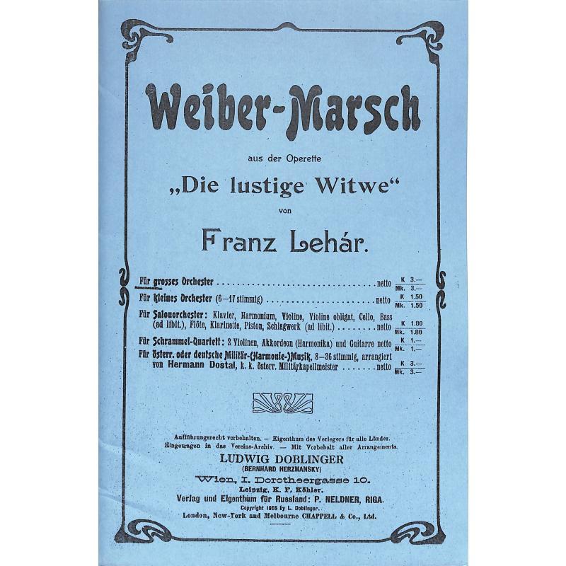 Titelbild für GO 093 - WEIBERMARSCH (DIE LUSTIGE WITWE)