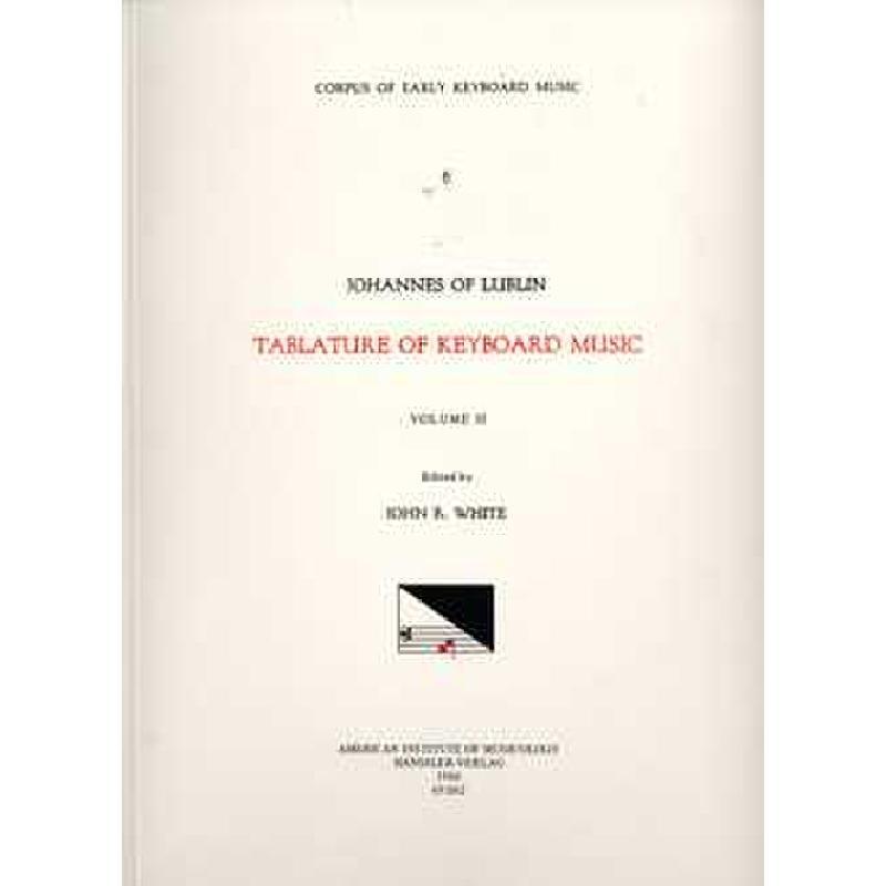 Titelbild für CEKM 6-2 - TABLATURE OF KEYBOARD MUSIC 2