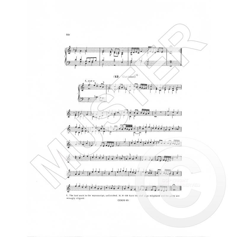 Notenbild für CEKM 6-6 - TABLATURE OF KEYBOARD MUSIC 6