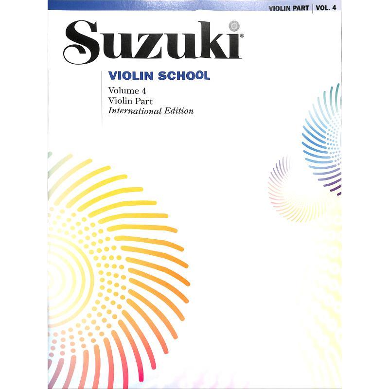 Titelbild für SBM 0150S - Violin school 4 - revised edition