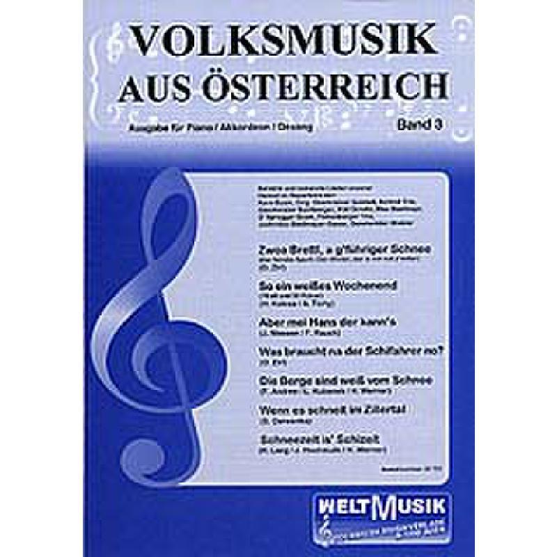 Titelbild für WM -VM3 - VOLKSMUSIK AUS OESTERREICH 3