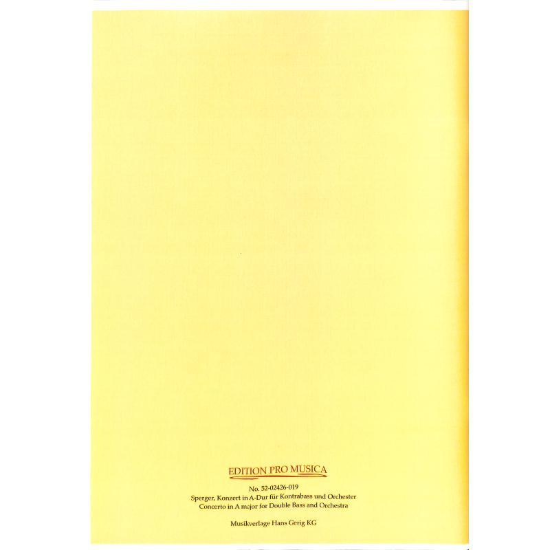 Notenbild für PM 174 - KONZERT A-DUR - KB ORCH