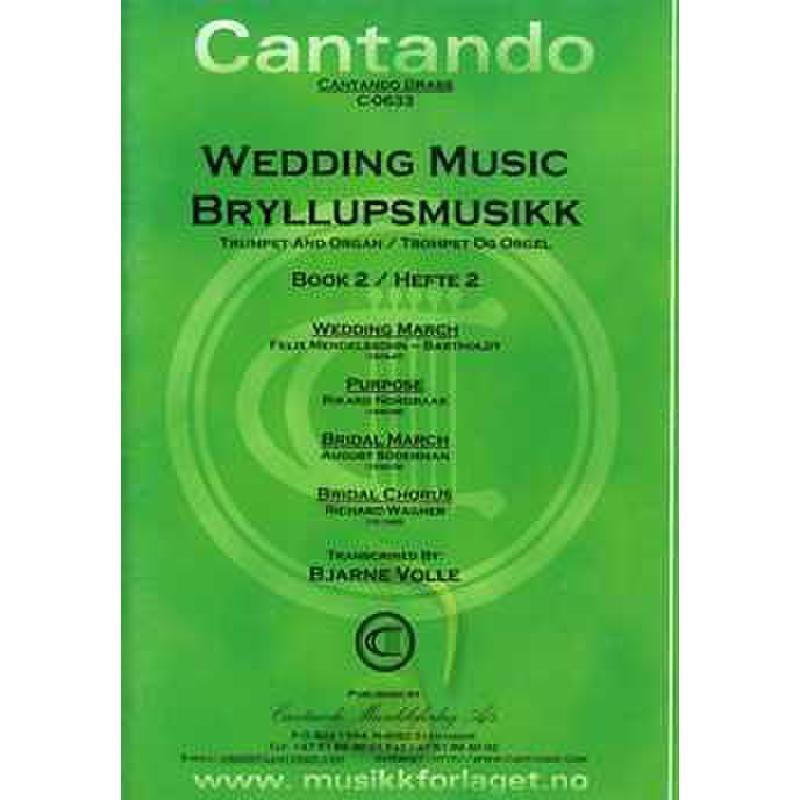 Titelbild für CANTANDO -C0633 - WEDDING MUSIC 2