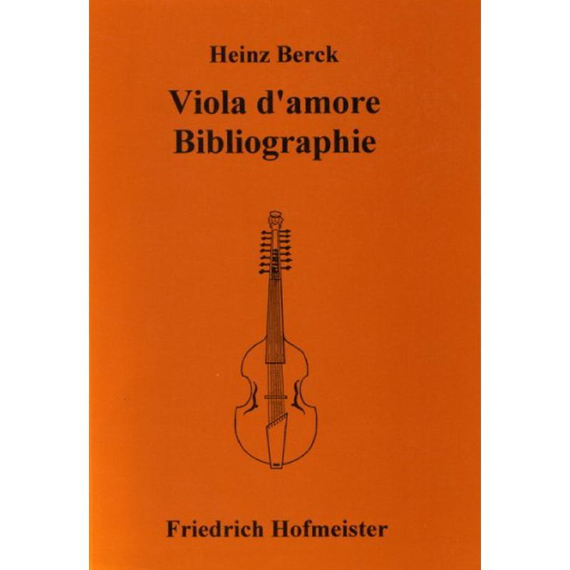 Titelbild für FH 3807 - VIOLA D'AMORE BIBLIOGRAPHIE