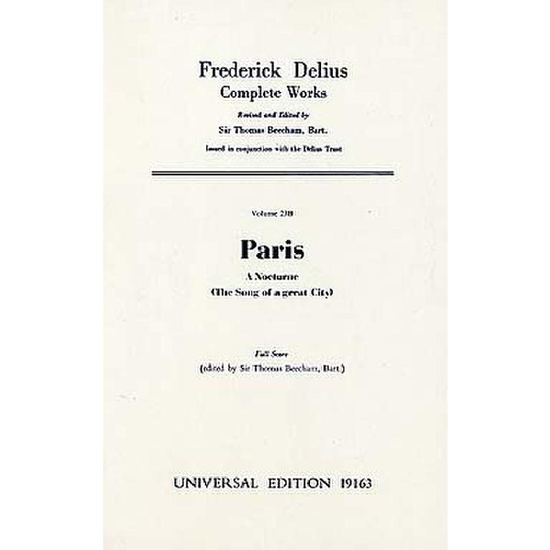 Titelbild für UE 19163 - PARIS - A NOCTURNE