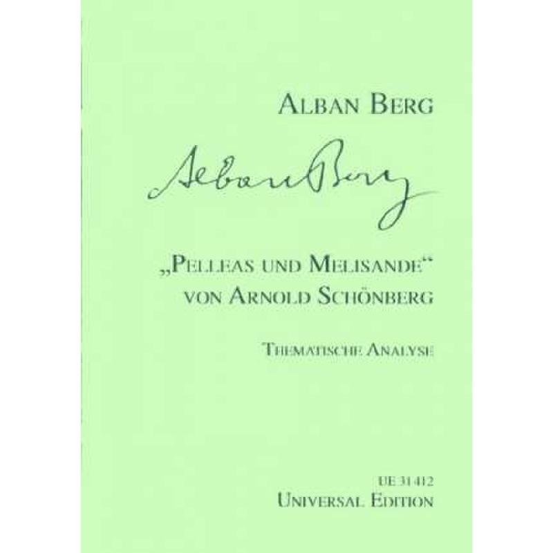 Titelbild für UE 31412 - PELLEAS + MELISANDE VON ARNOLD SCHOENBERG