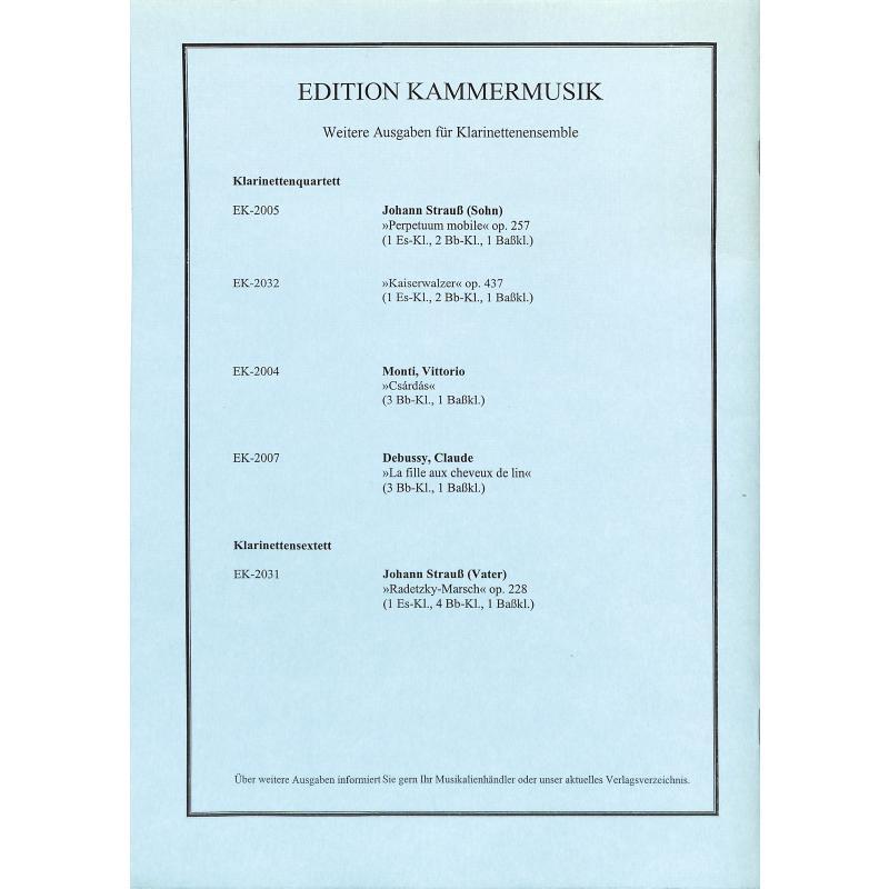 Notenbild für EK 2005 - PERPETUUM MOBILE OP 257 - EIN MUSIKALISCHER SCHERZ