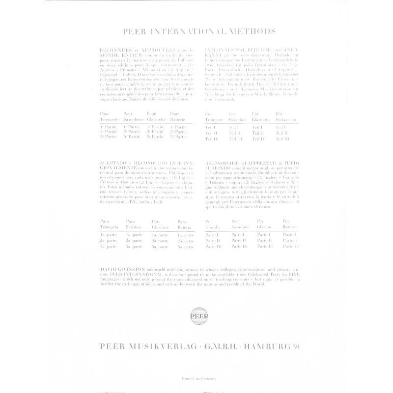 Notenbild für PEER 2639 - SAXOPHONSCHULE 3