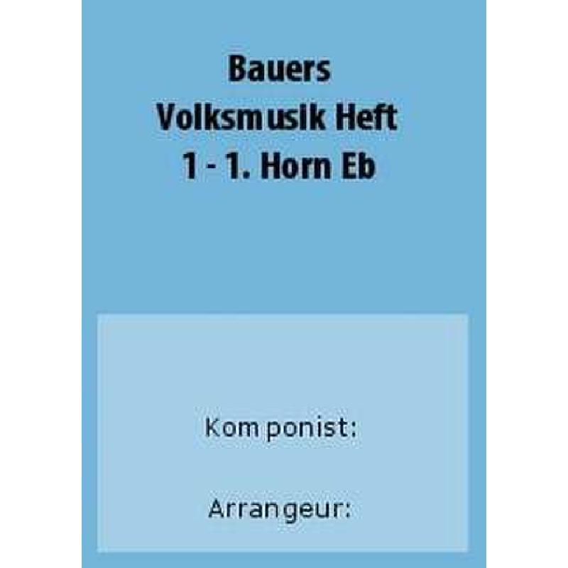 Titelbild für BAU 281-HRNES1 - VOLKSMUSIK 1