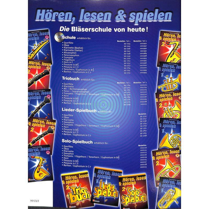 Notenbild für HASKE 991769 - HOEREN LESEN & SPIELEN 1 - TRIOBUCH