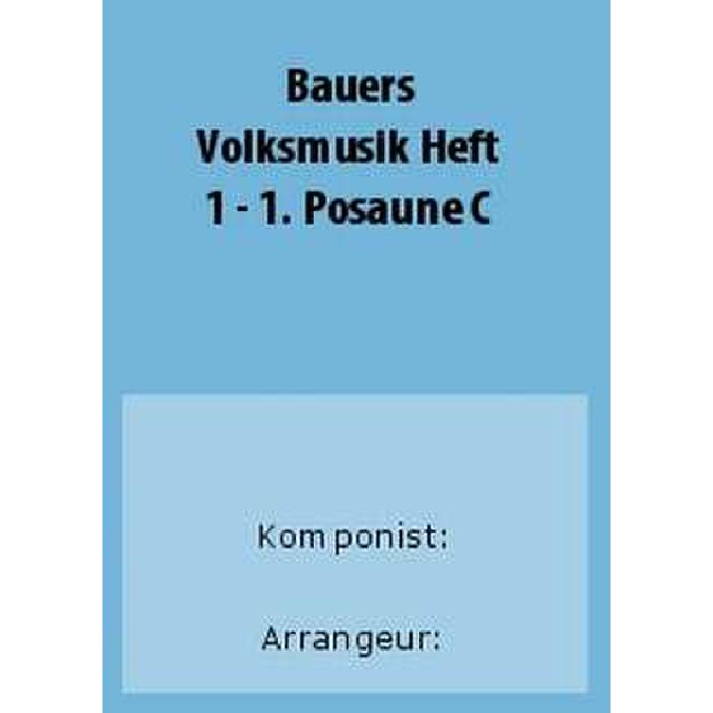 Titelbild für BAU 281-POS1C - VOLKSMUSIK 1