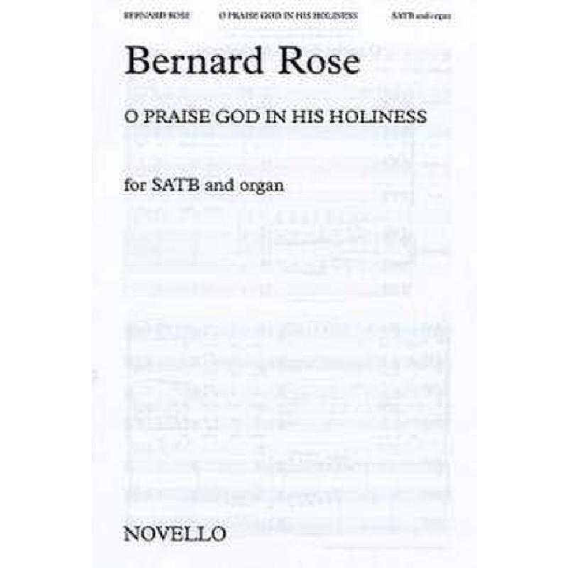 Titelbild für MSNOV 90937 - O PRAISE GOD IN HIS HOLINESS