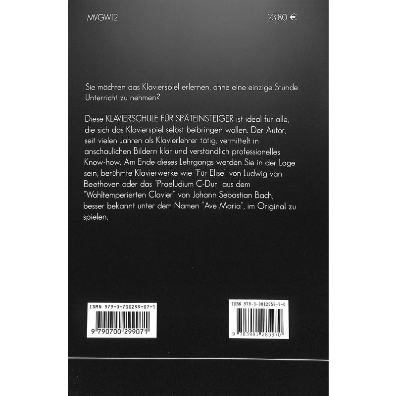 Produktinformationen zu KLAVIERSCHULE 979-0-700299-07-1