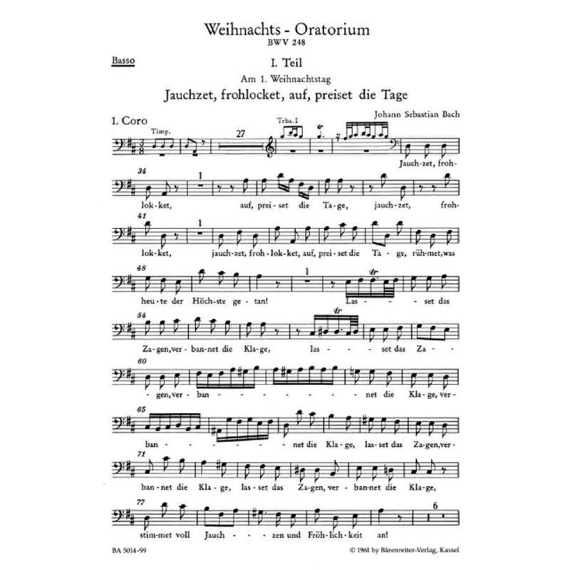 Titelbild für BA 5014-99 - Weihnachtsoratorium BWV 248