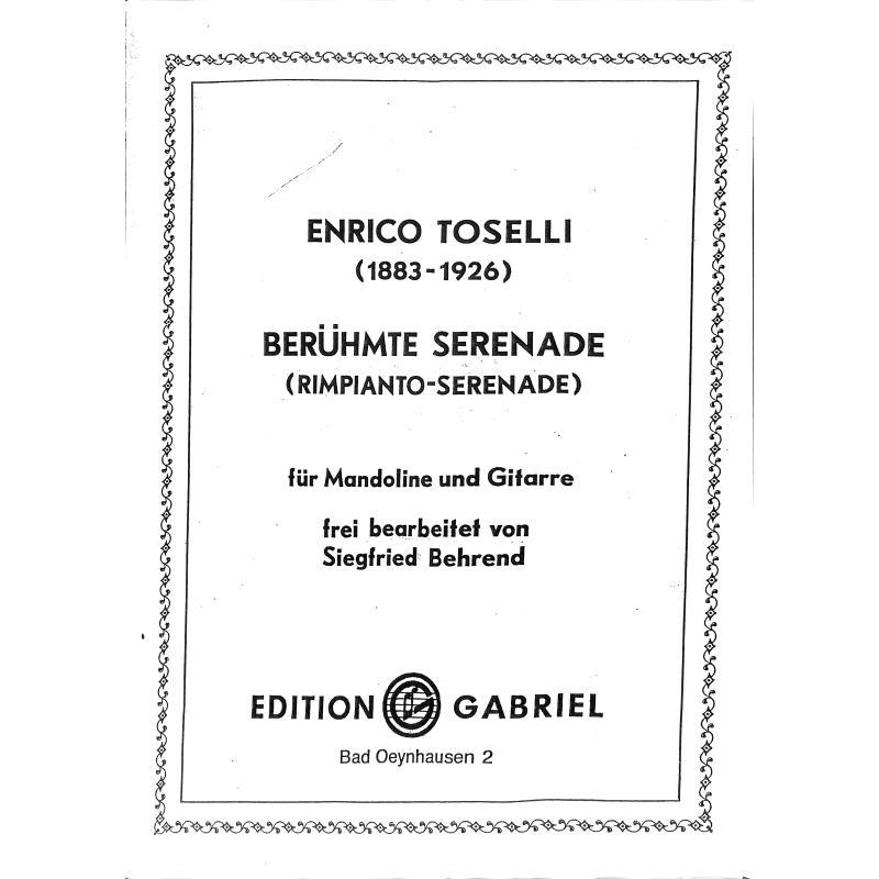 Titelbild für INTRO 5152282 - BERUEHMTE SERENADE - RIMPIANTO SERENADE