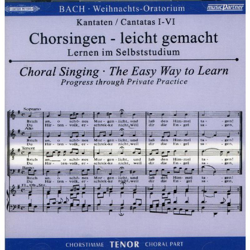 Titelbild für EPMPC 8719-3 - WEIHNACHTSORATORIUM BWV 248