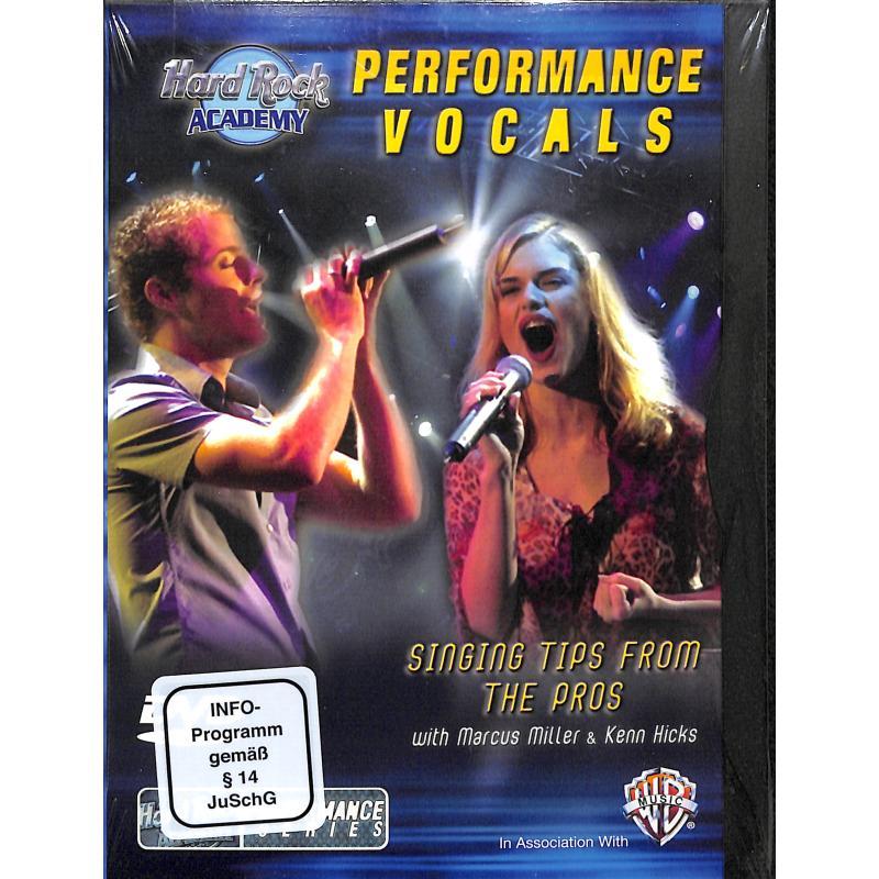Titelbild für DVD 907024 - PERFORMANCE VOCALS (HARD ROCK ACADEMY)