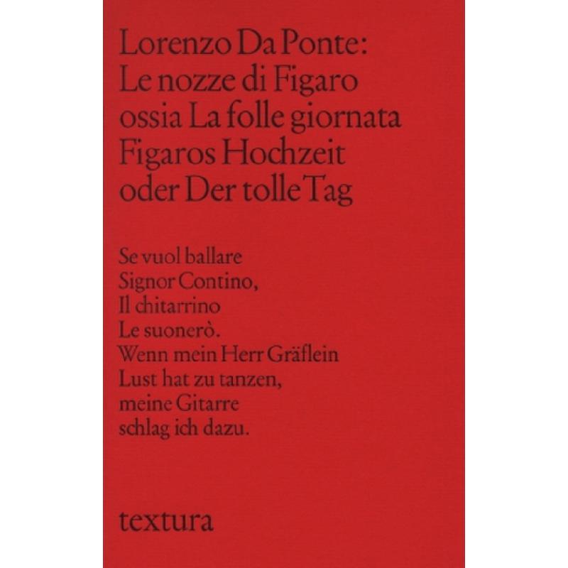 Titelbild für 978-3-7846-0562-3 - LE NOZZE DI FIGARO OSSIA LA FOLLE GIORNATA