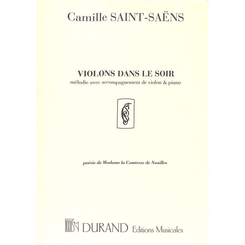 Titelbild für DF 6973 - VIOLONS DANS LE SOIR