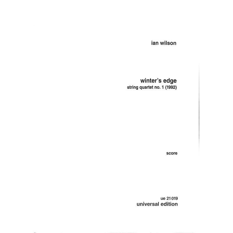 Titelbild für UE 21019 - WINTER'S EDGE (STREICHQUARTETT 1)
