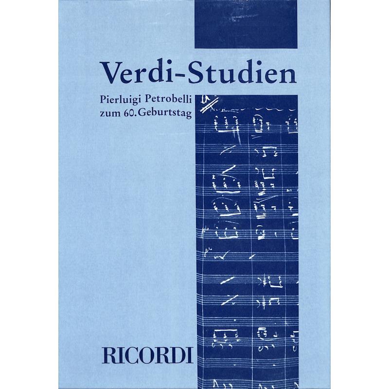 Titelbild für SY 9018 - VERDI STUDIEN