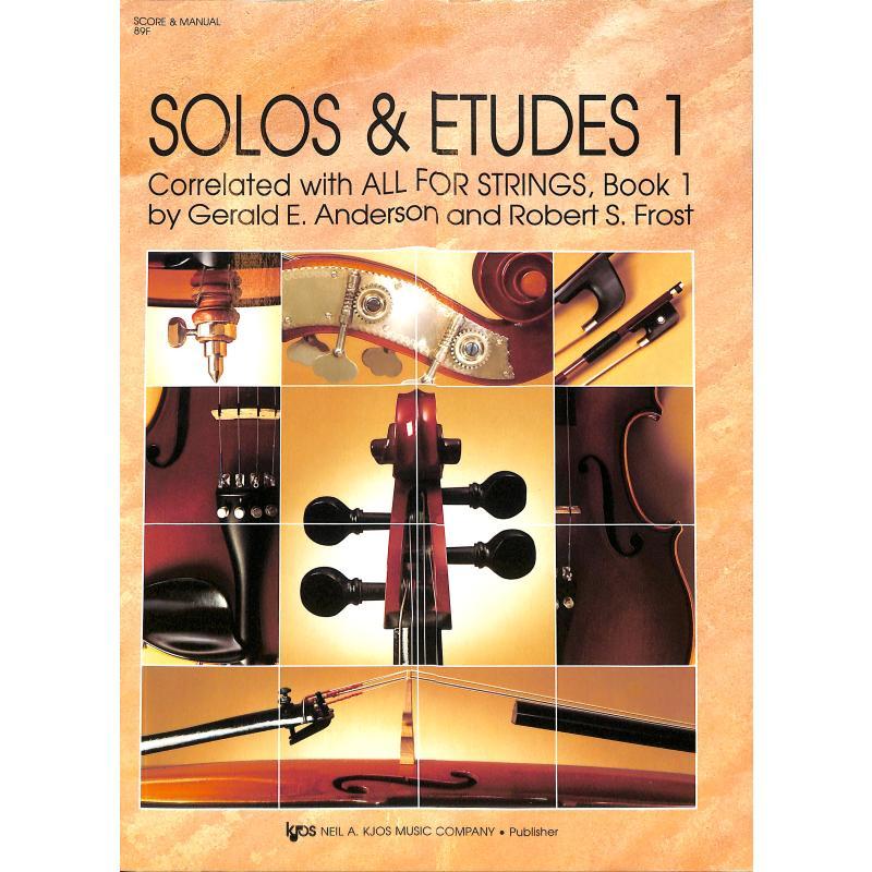 Titelbild für KJOS 89F - SOLOS + ETUDES 1 (ALL FOR STRINGS)