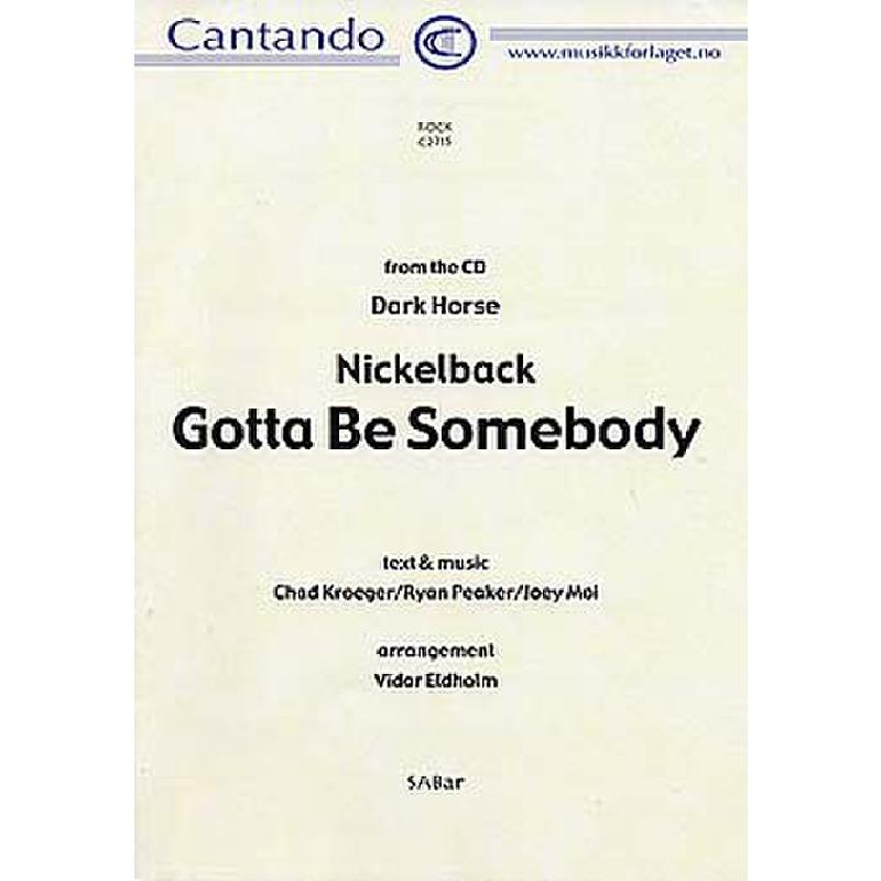 Titelbild für CANTANDO -C2715 - GOTTA BE SOMEBODY