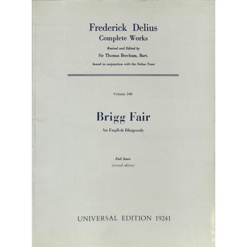 Titelbild für UE 19241 - BRIGG FAIR - AN ENGLISH RHAPSODY