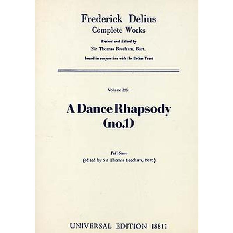 Titelbild für UE 18811 - A DANCE RHAPSODY NR 1