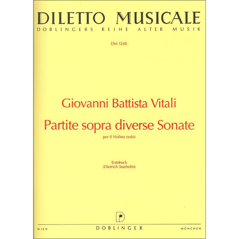Titelbild für DM 1240 - PARTITA SOPRA DIVERSE SONATE