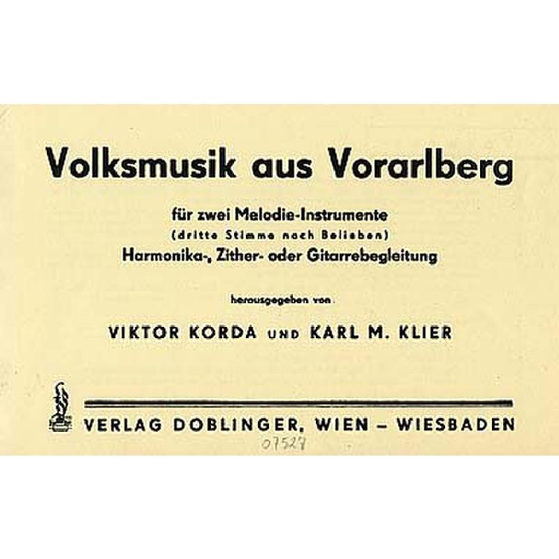 Titelbild für DO 07527 - VOLKSMUSIK AUS VORARLBERG