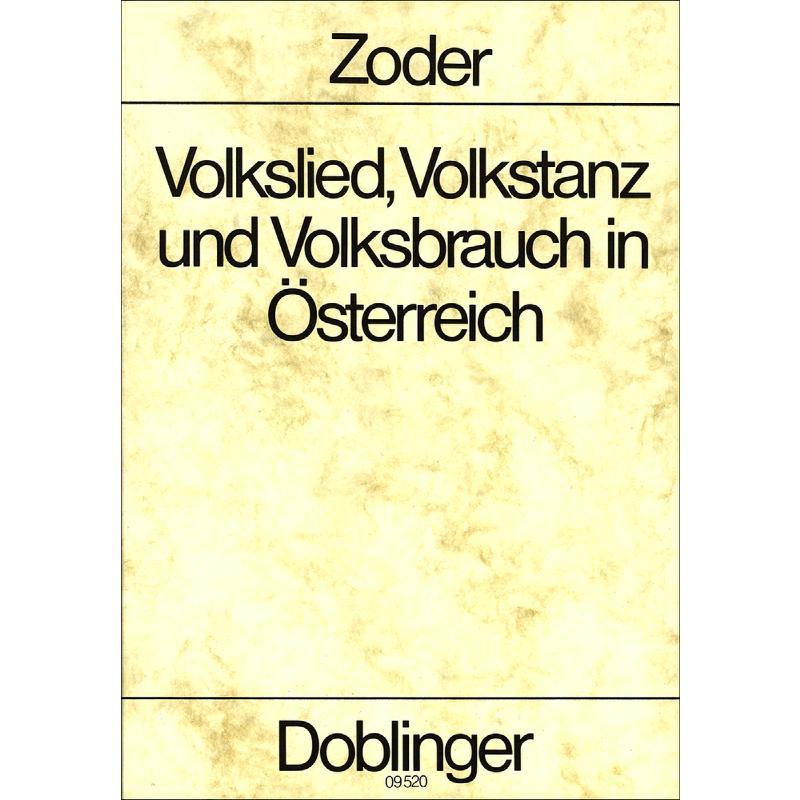 Titelbild für DO 09520 - VOLKSLIED VOLKSTANZ UND VOLKSBRAUCH IN OESTERREICH