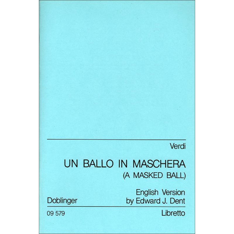 Titelbild für DO 09579 - UN BALLO IN MASCHERA (EIN MASKENBALL)