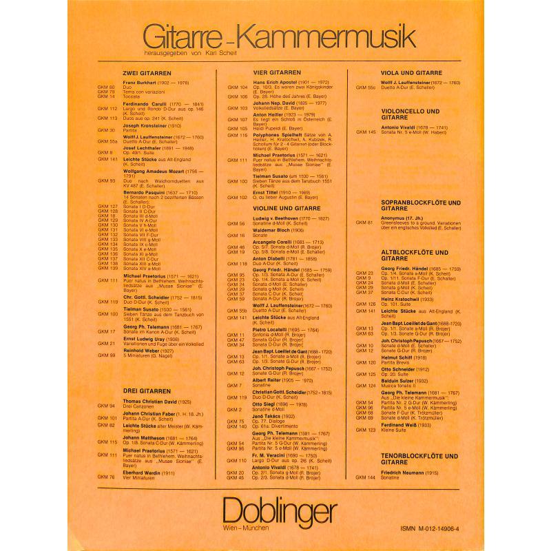 Notenbild für GKM 103 - VOLKSLIEDSAETZE